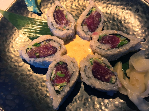 illustrative photo of the spicy tuna uramaki from Chotto at Arcade Food Theatre Centre Point