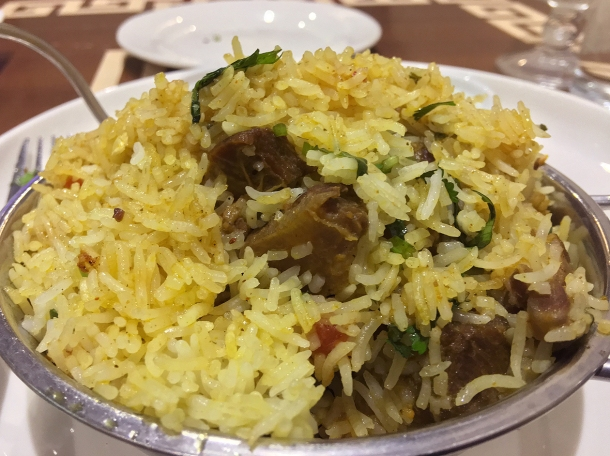 illustrative photo of the mutton biryiani at Maya DD's