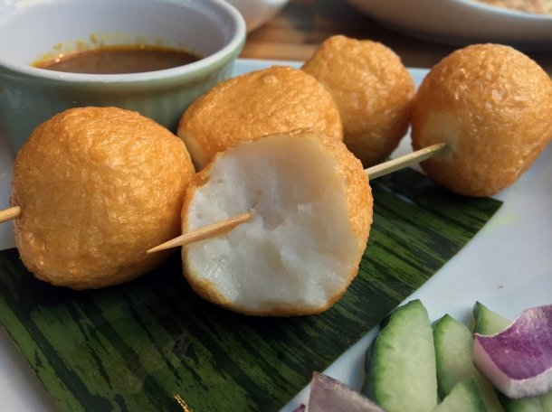 illustrative photo of the satay fish balls at Wau