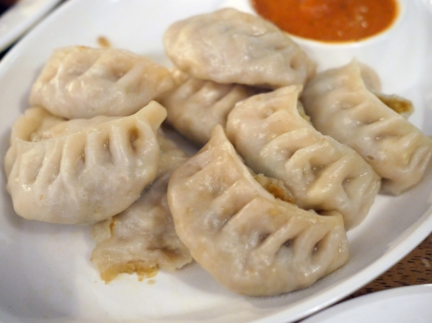 illustrative photo of the steamed vegetable momos at Danfe