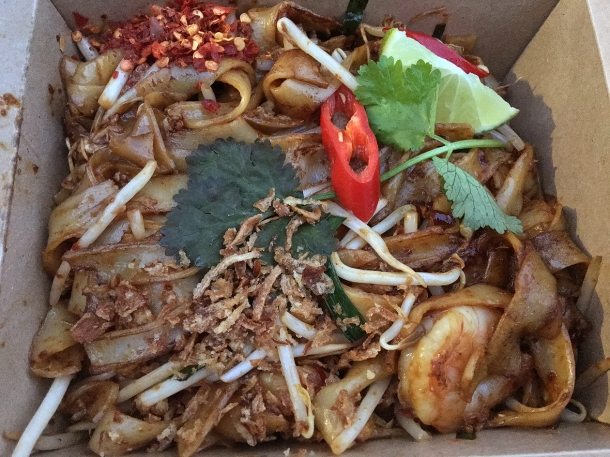 illustrative photo of the char kway teow from Ekachai at Flat Iron Square