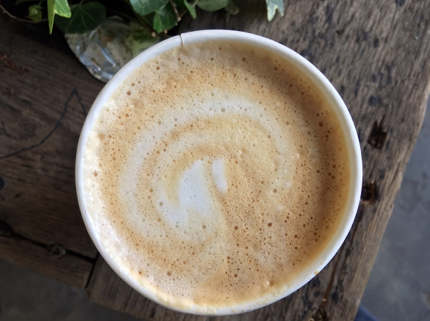 illustrative photo of a flat white from from the Colombian Coffee Company at Flat Iron Square