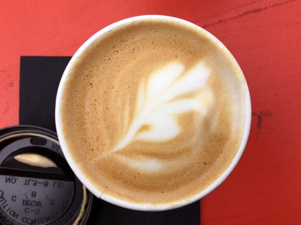 illustrative photo of the flat white from Gentlemen Baristas at Flat Iron Square