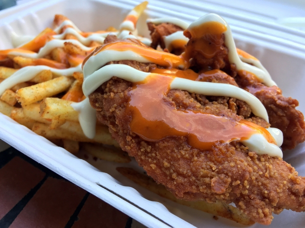 illustrative photo of the fried chicken from Mother Clucker at Flat Iron Square