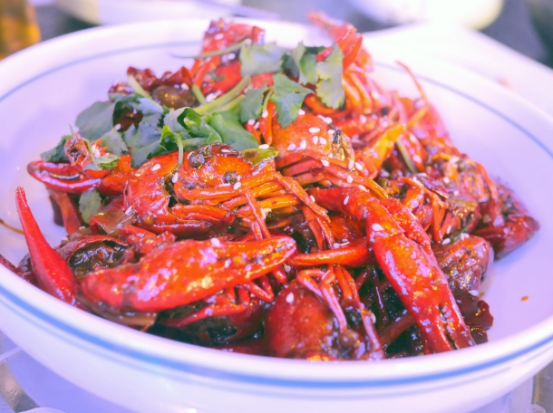 illustrative photo of the spicy crayfish at Seveni