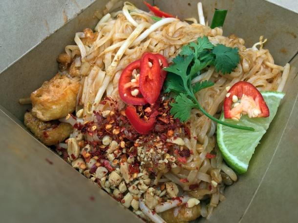 illustrative photo of the tofu pad thai from Ekachai at Flat Iron Square