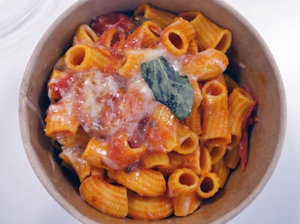 illustrative photo of the tomato rigatoni from La Nonna at Flat Iron Square