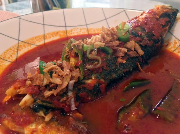 illustrative photo of the assam pedas at Normah's Cafe