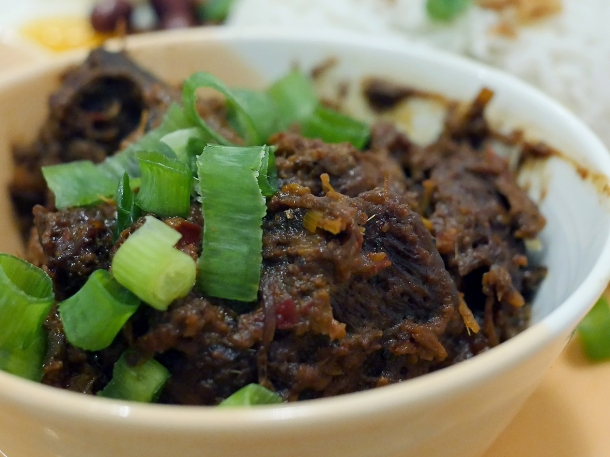 illustrative photo of the beef rendang at Normah's Cafe