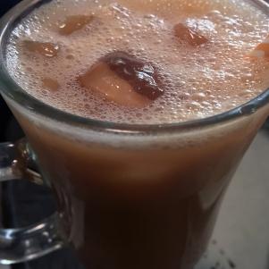 cold teh tarik at Normah's Cafe Queensway
