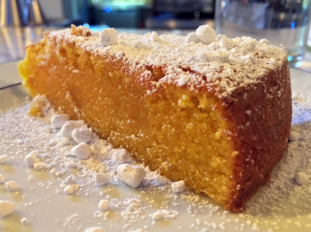 illustrative photo of the egg yolk almond cake at Bar Douro