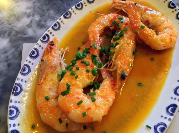 illustrative photo of the garlic prawns at bar douro