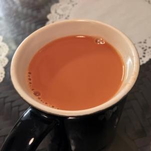 hot teh tarik at Normah's Cafe