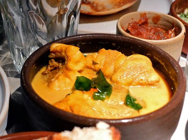 illustrative photo of the monkfish curry at Kolamba