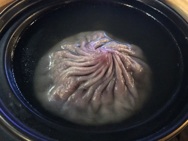 illustrative photo of the pork big dumpling in soup at Baozi Inn London Bridge