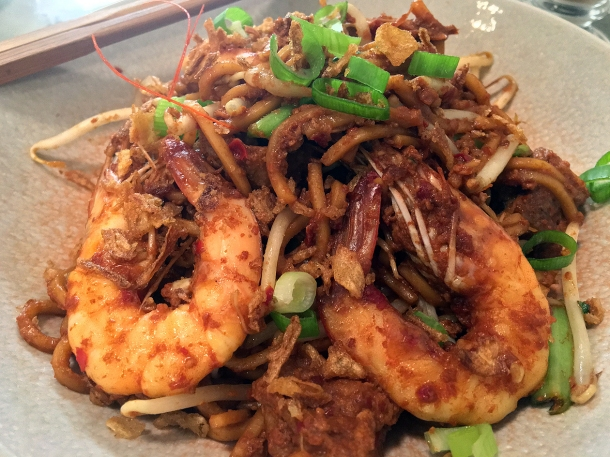 illustrative photo of the prawn mee mamak at Normah's Cafe