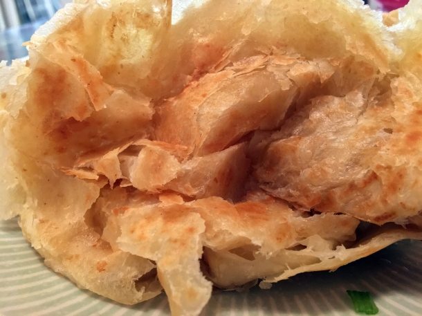illustrative photo of the roti canai at Normah's Cafe Bayswater