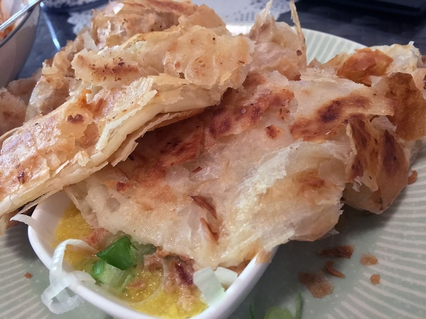 illustrative photo of the roti canai with daal at Normah's Cafe