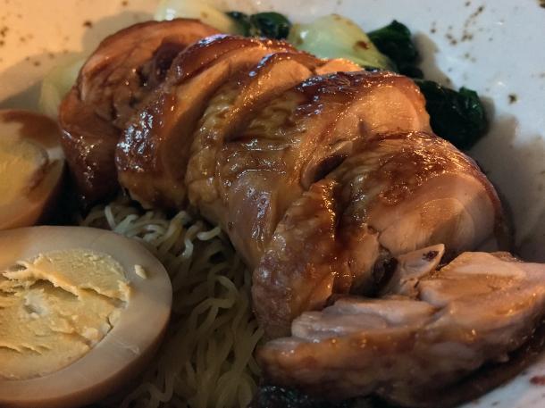 illustrative photo of the soya chicken noodles at Baozi Inn London Bridge