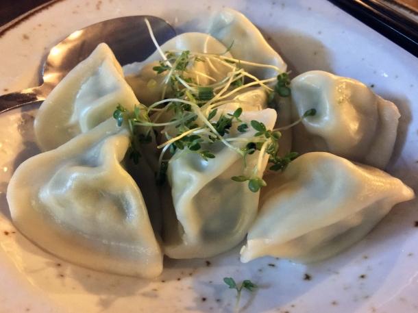 illustrative photo of the vegetarian traditional jiaozi dumplings at Baozi Inn London Bridge