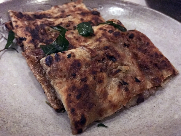 illustrative photo of the date and pistachio roti at Paradise Soho
