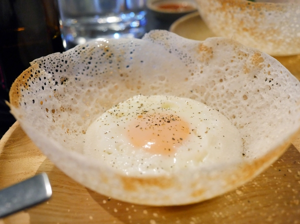 illustrative photo of the egg hopper at Paradise Soho