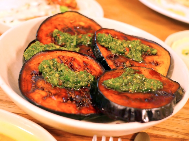 illustrative photo of the fried aubergine at Bubala