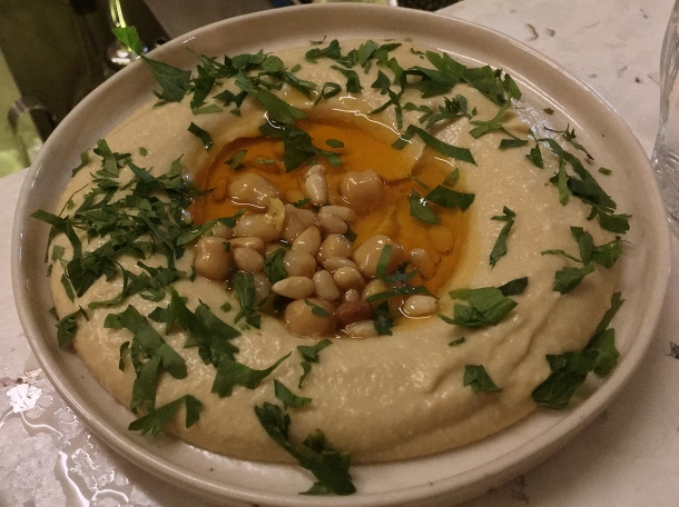 illustrative photo of the hummus with burnt butter at Bubala