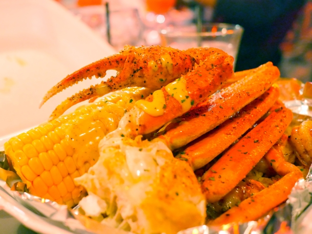 illustrative photo of the snow crab legs at Trap Kitchen Balham