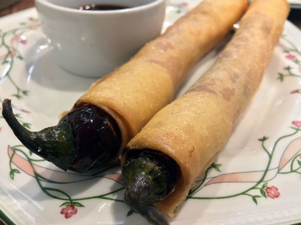 illustrative photo of the chilli pepper spring roll at Sarap