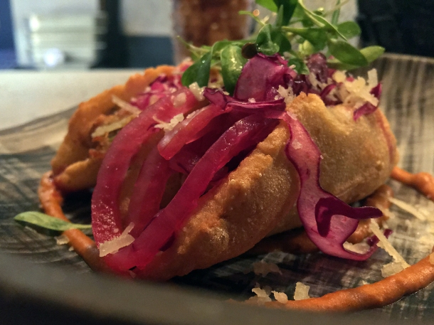 illustrative photo of the Oaxacan empanadas at Madera Treehouse