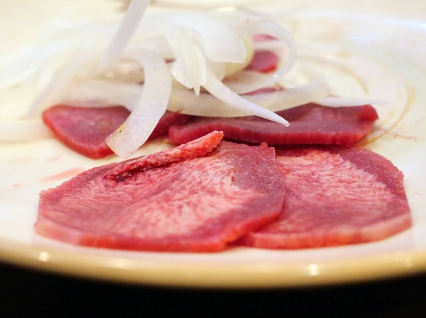 illustrative photo of the ox tongue at Soju Reading