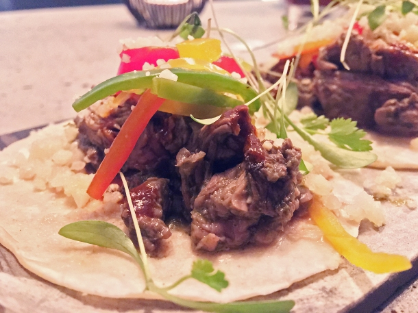 illustrative photo of the steak tacos at Madera Treehouse
