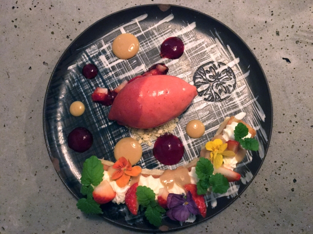 illustrative photo of the strawberry tre leches at Madera London