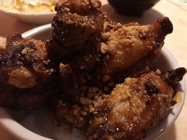 illustrative photo of the caramel kuli kuli chicken wings at Chuku's