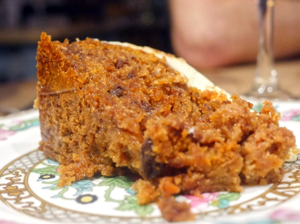illustrative photo of the carrot cake at The Georgian