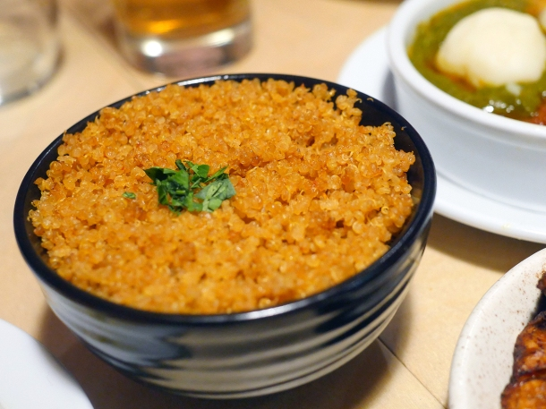 illustrative photo of the jollof quinoa at Chuku's