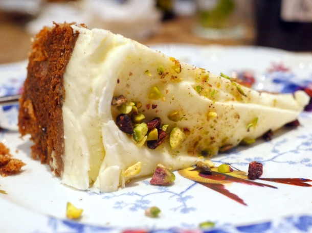 illustrative photo of the pistachio cake at The Georgian