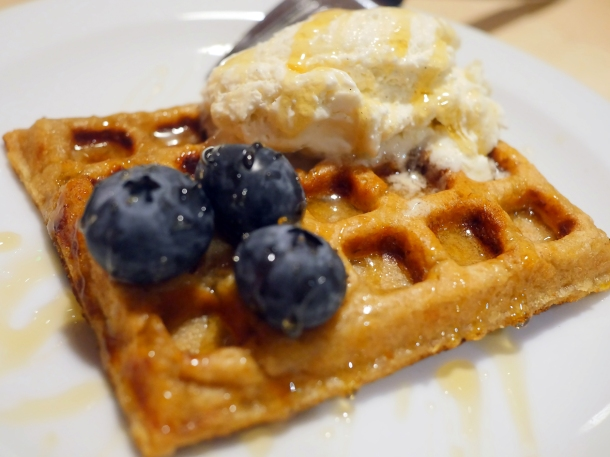 illustrative photo of the plantain waffles at Chuku's