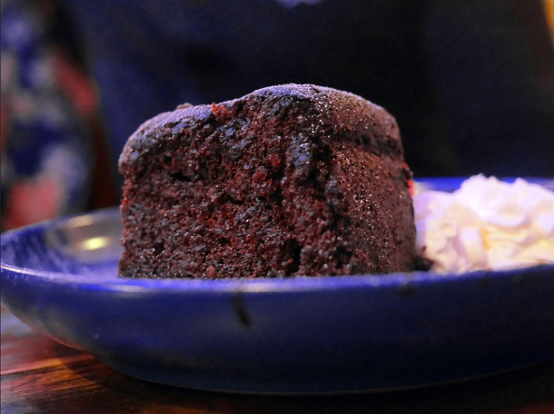 illustrative photo of the rum cake at Yah-So