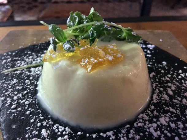 illustrative photo of the bianco al basilico panna cotta at Macellaio RC Union Street
