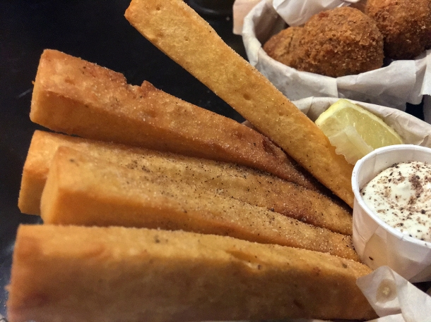 illustrative photo of the chickpea fries from Sugo at Vinegar Yard