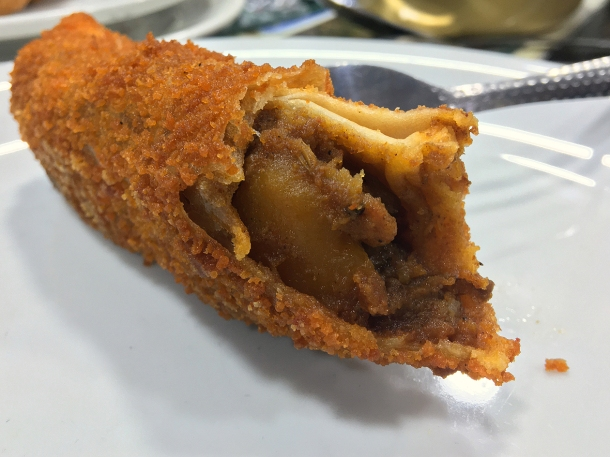 illustrative photo of the mutton roll at Everest Curry King