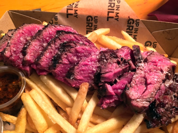 illustrative photo of the steak and fries from Up In My Grill at Vinegar Yard