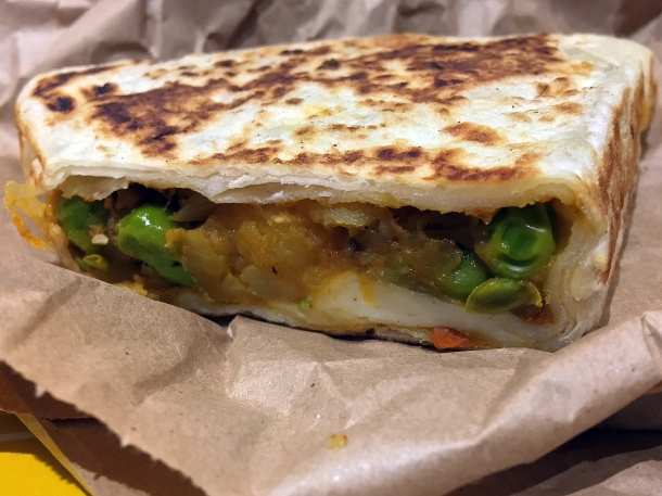 illustrative photo of the veg stuffed roti from Everest Curry King