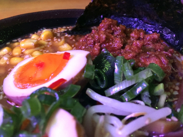 illustrative photo of the beef chilli tantanmen at Kauboi Ramen Texas Joe's