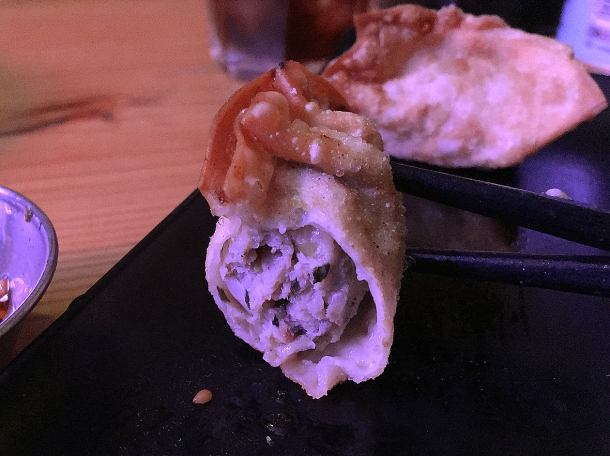 illustrative photo of the deep-fried gyoza at Kauboi Ramen