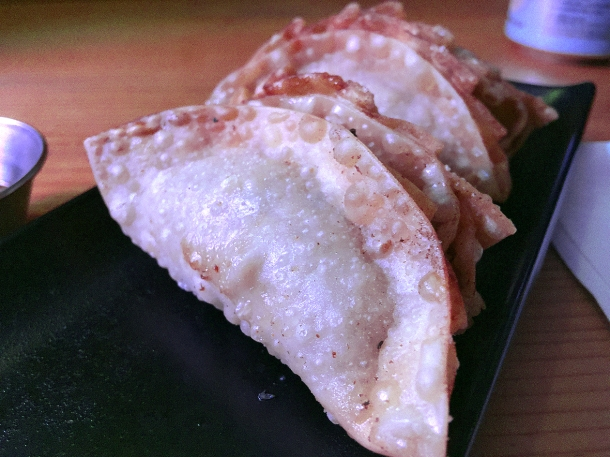 illustrative photo of the deep-fried pork gyoza at Kauboi Ramen