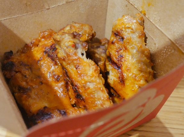 illustrative photo of the extra hot chicken wings from Nando's Woolwich