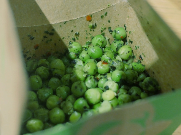 illustrative photo of the peas from Nando's Woolwich